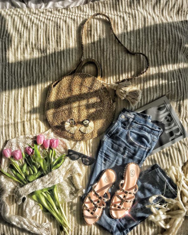 how to style a flat lay