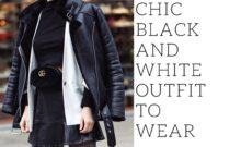 schwarz-weißes Outfit richtig kombinieren