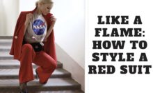 how to style a red suit
