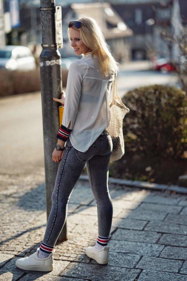 Freddy – WR.UP – Formende, enge, knöchellange Jeans mit Push-up-Effekt