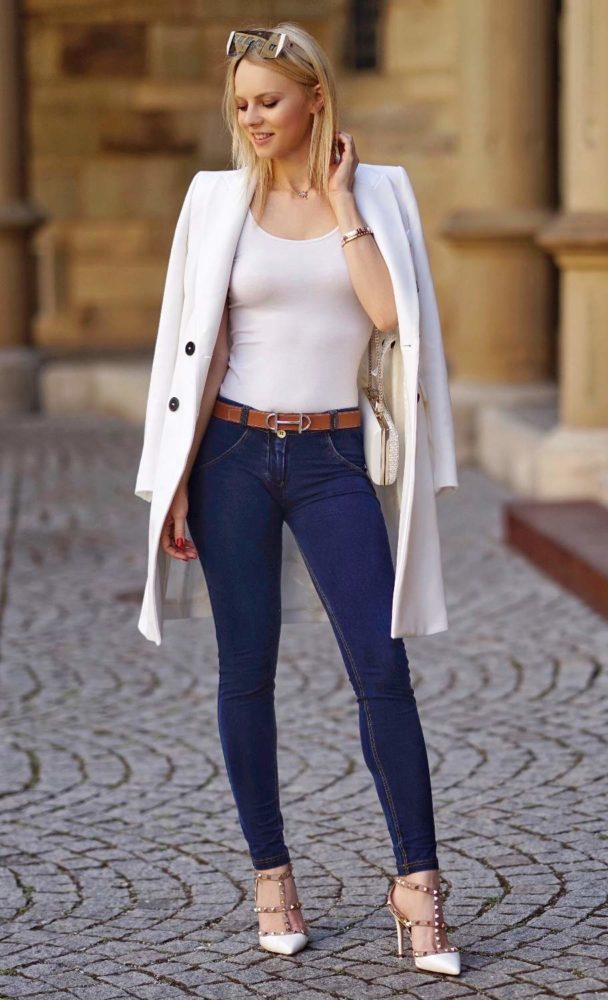 How Skinny Heels Your Blazer To Style With High Jeans And eWb29IDHYE