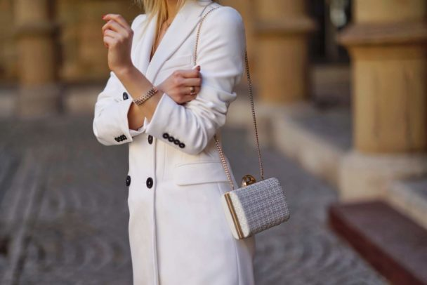 white coat by zara
